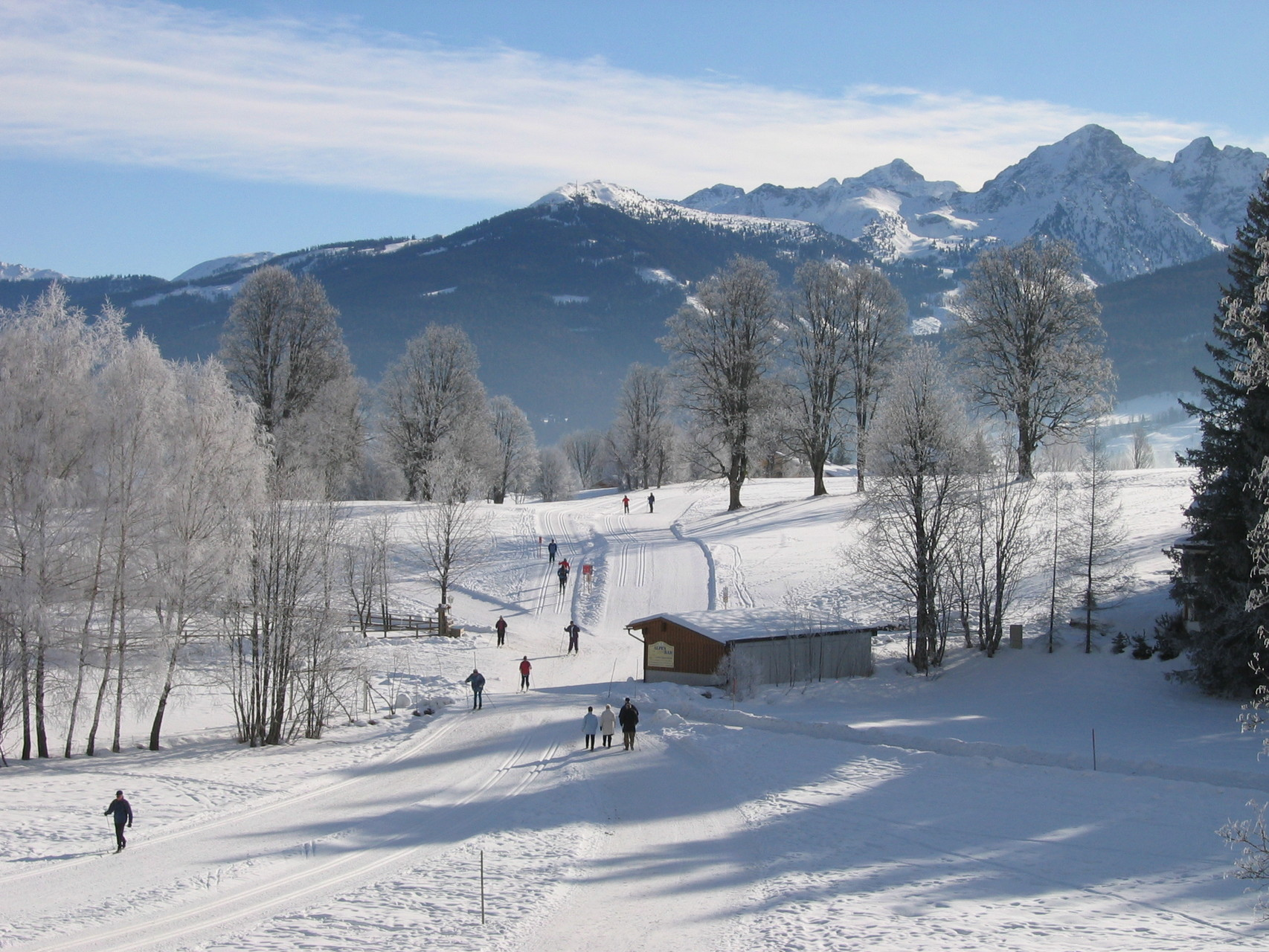 Die gleiche Ansicht, zum Südosten im Winter