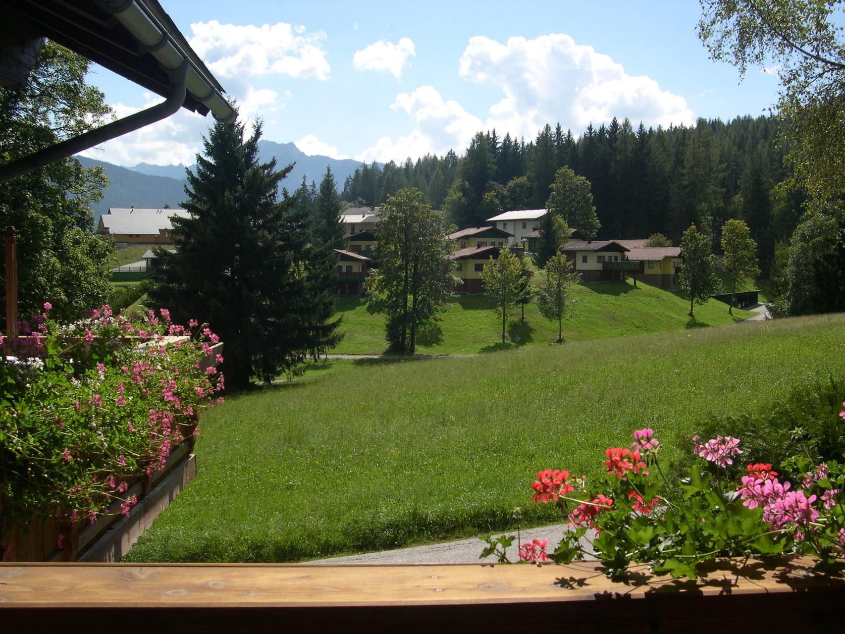 Blick nach Süden vom Balkon