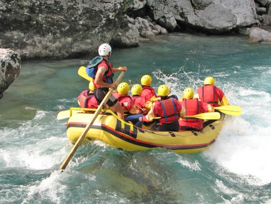 White water rafting on the Enns river