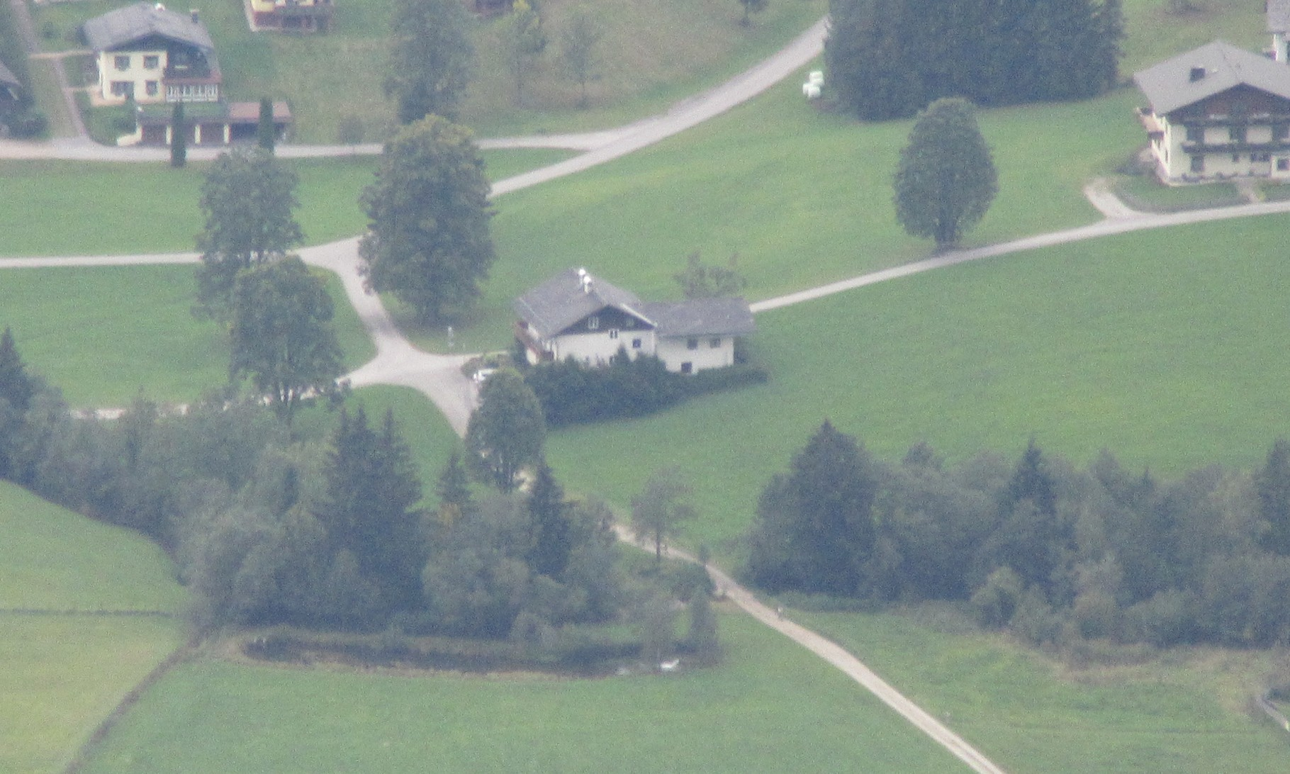Haus Heidi viewed from the Guttenberghaus (1000m higher)
