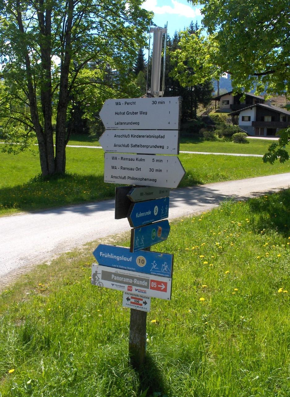 Direkt vor dem Haus: Wanderwege, laufende Strecken und Radwege