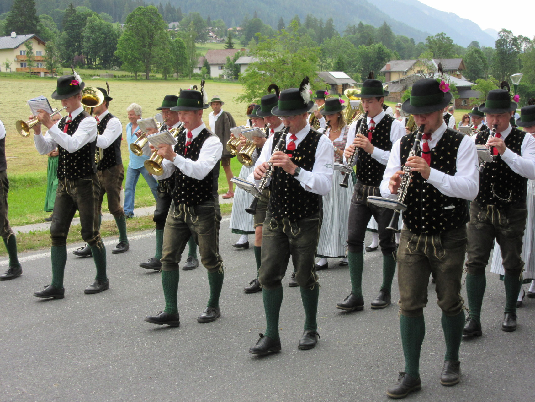 Marching band at the Fruhlingfest
