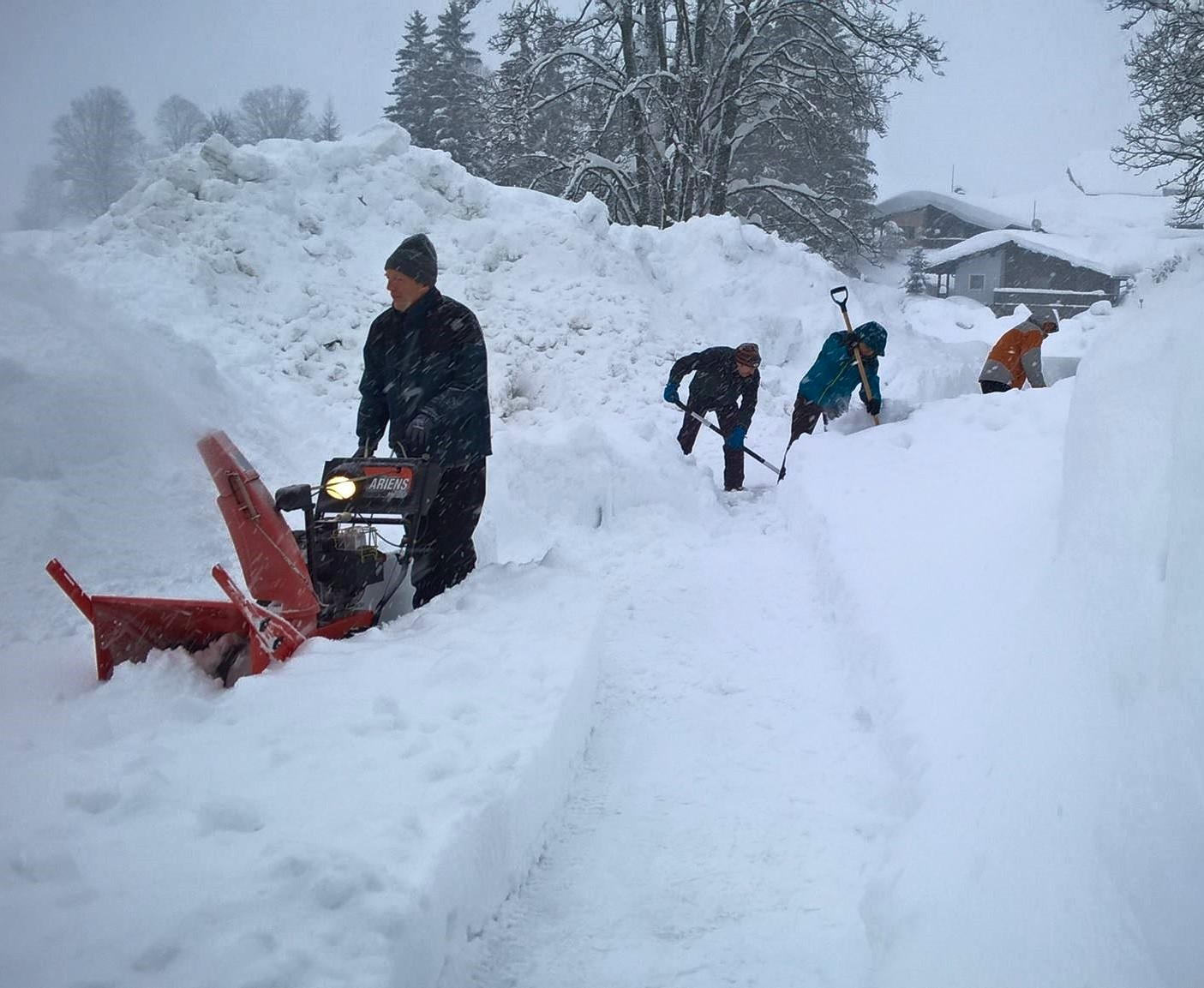 Snow shovelling, January 2019