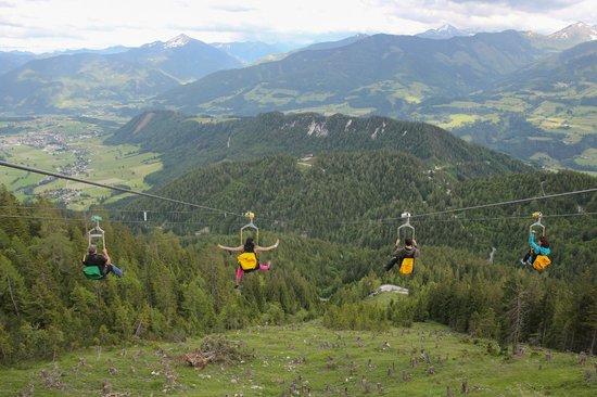 Zip-line at Stoderzinken