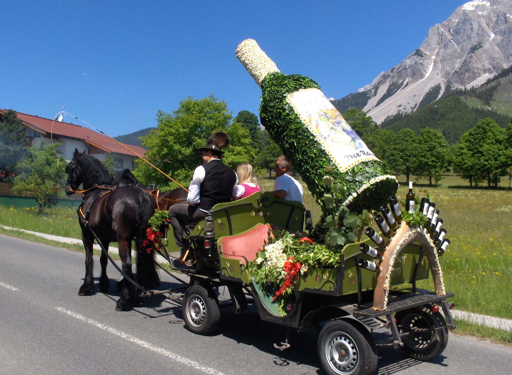 The Fruhlingsfest - annual traditional Ramsau festival in June
