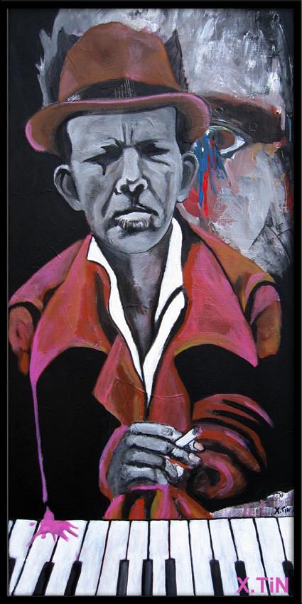 Tom Waits (acrylique sur toile 60x30cm)
