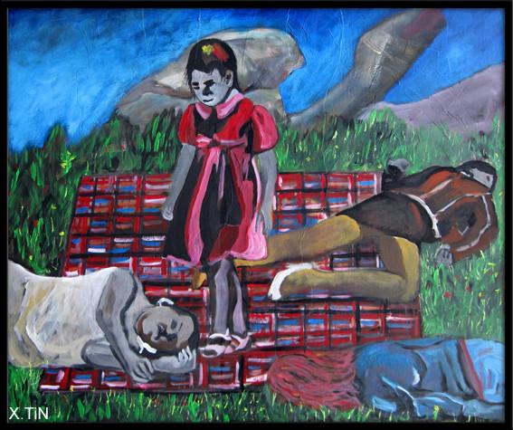 """I don't like sundays"", acrylique sur toile (54x65cm), 2013"
