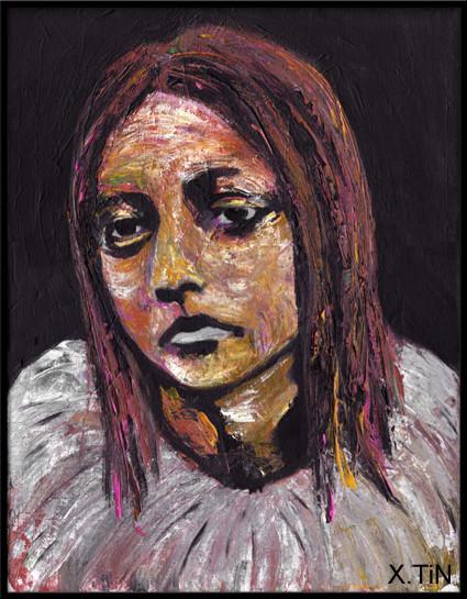 Katerina Golubeva (acrylique sur toile, 35x27cm, oct 2014)