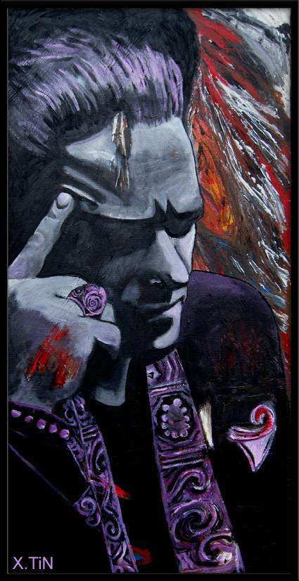 Phil K (acrylique sur toile 60x30cmby xtin peintures)