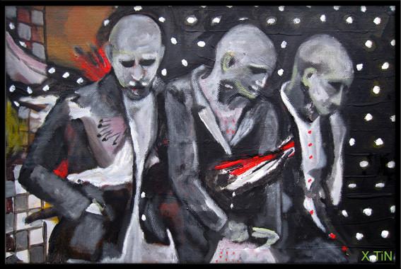 """""""Punition"""", acrylique sur toile, 2012, 27x41cm"""