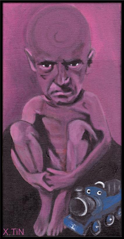Le vieux bébé, acrylique sur toile 40x20cm, 2013