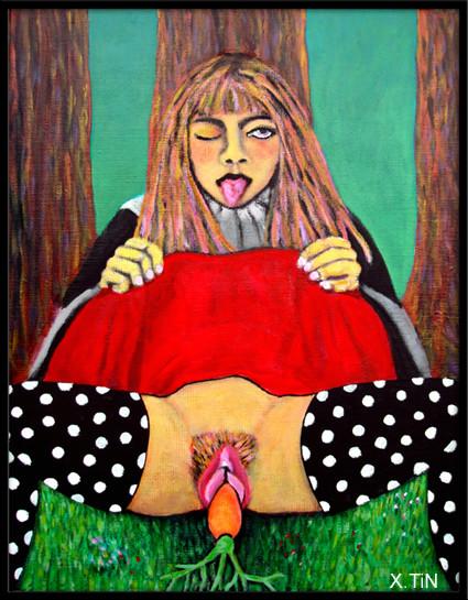 """""""Poil de carotte"""", 35x27, 2016"""