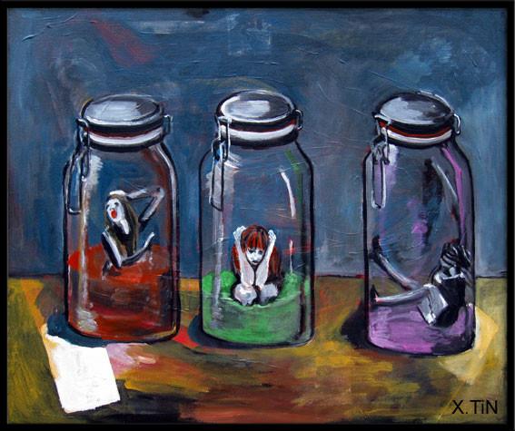 """""""Collection de petites frustrations"""" (50 x 60cm)"""