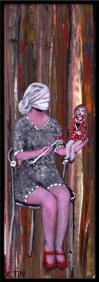 la 17ème petite morose était devenue mère pour continuerà jouer à la poupée