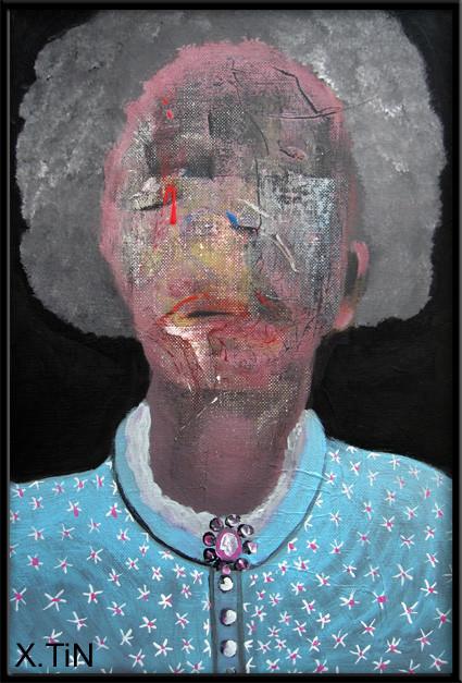 la disparue, acrylique sur toile 41x27cm, 2013