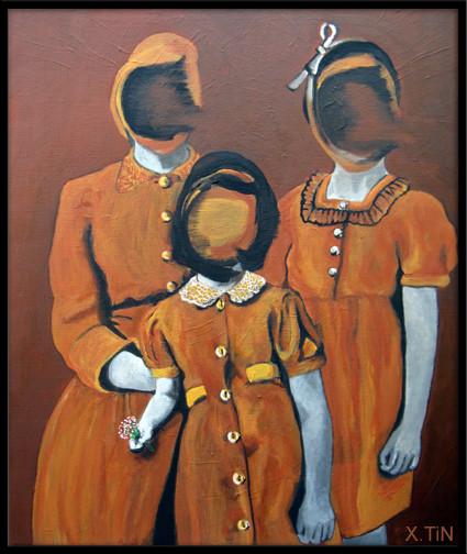 Remember: le parfum des oeillets, acrylique sur toile (55x46cm), 2013