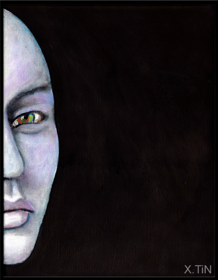 Half Moon (acrylique sur toile, 35x27cm,nov 2014)