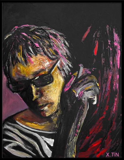 Leos carax (acrylique sur toile, 35x27cm, oct 2014)