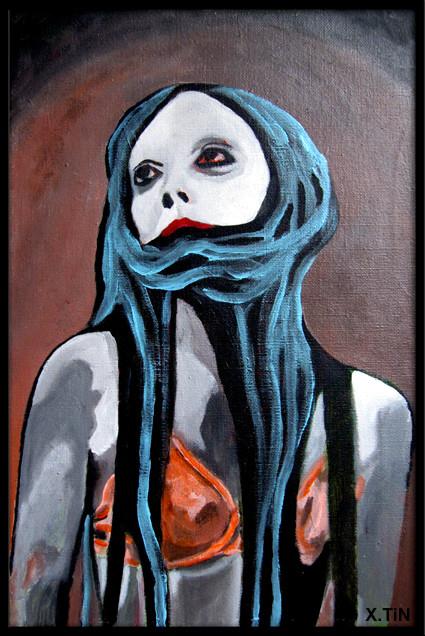 """""""Silence"""", portrait de la photographe Féebrile (41x27cm)"""