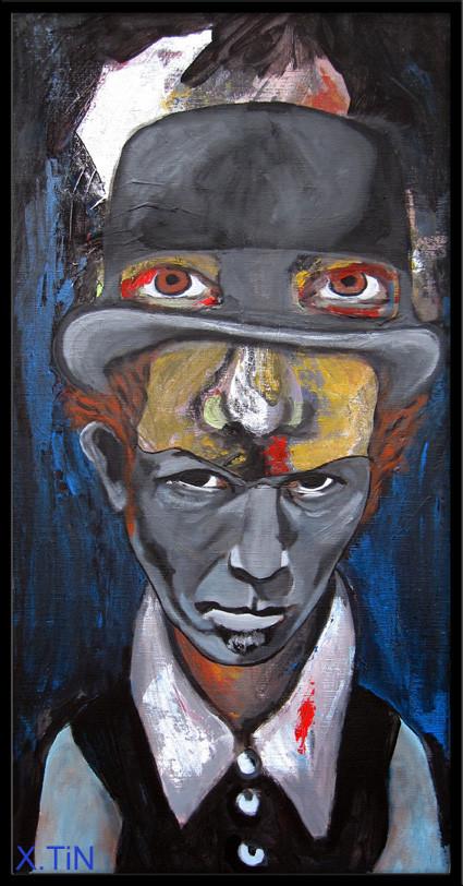 Tom Waits (acrylique sur toile 60x30cm by xtin peintures)