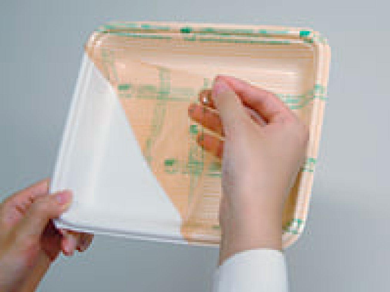 簡単にリサイクル!フィルム付き使い捨て容器「リ・リパック」