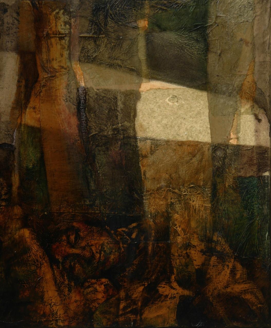 NASCOSTA NEL SILENZIO.  2011, 60x50 , olio su tela.