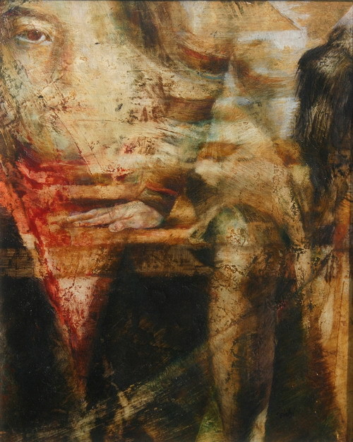 IL POSTO VUOTO, series. 2011, 30x24, olio su tela.