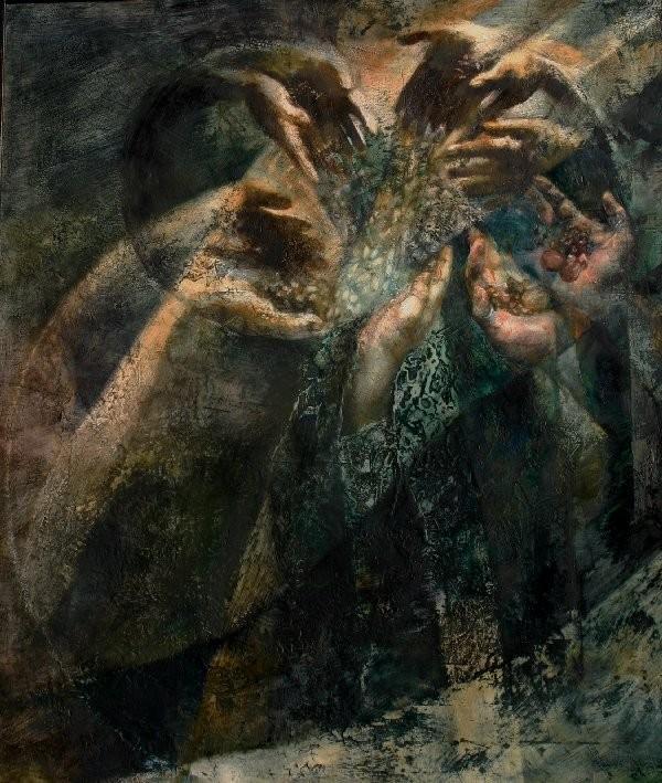 L'uomo e il mare - 2010, 60x70, olio su tela.