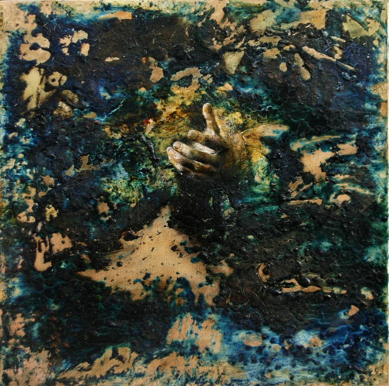 NO MAN'S LAND - Terra di nessuno. 2015, 40x40, tecnica mista su tela.