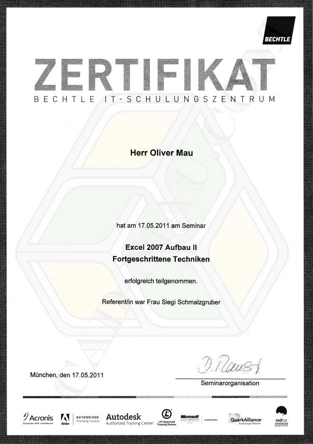 Zertifikate - CAD MAU