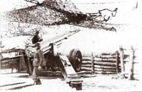 L'un des six canons de 155m/m