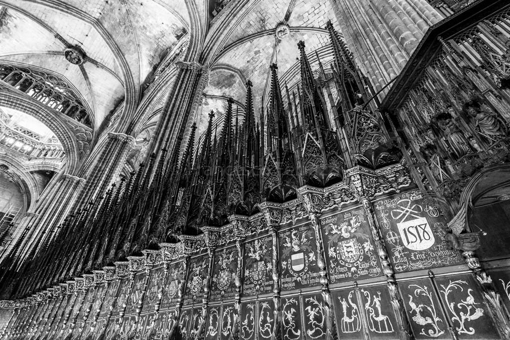 Il coro della Cattedrale dedicata a Sant'Eulalia a Barcellona