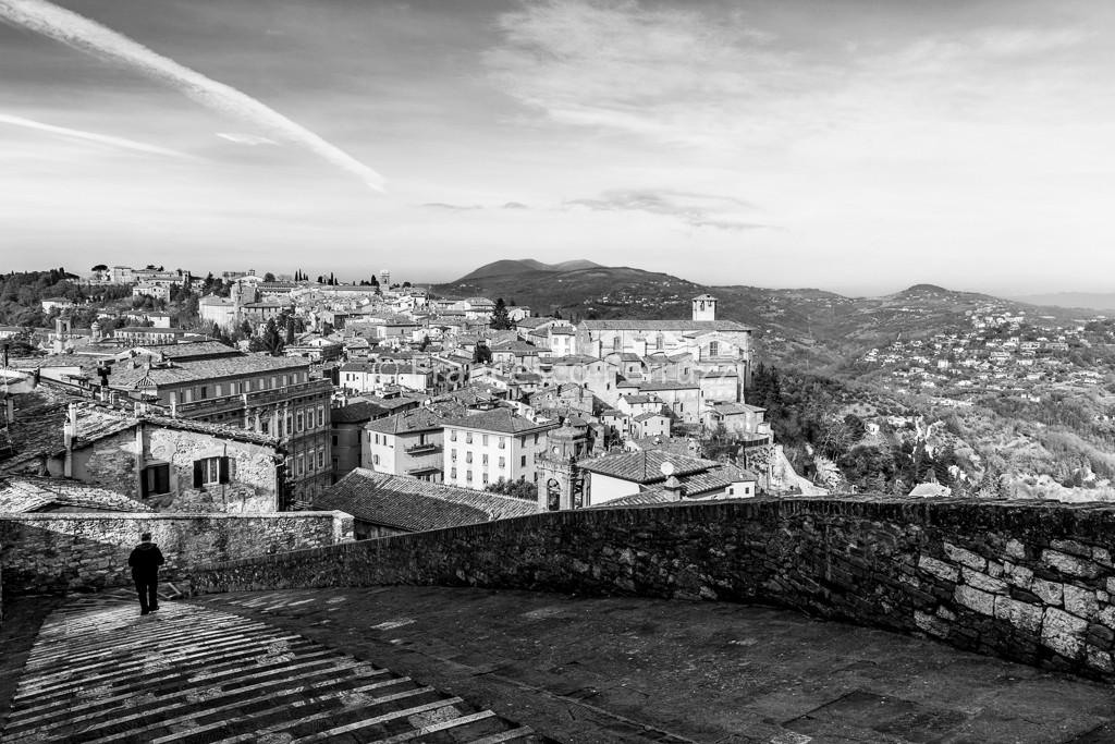 immagine di Perugia - umbria - bianco e nero