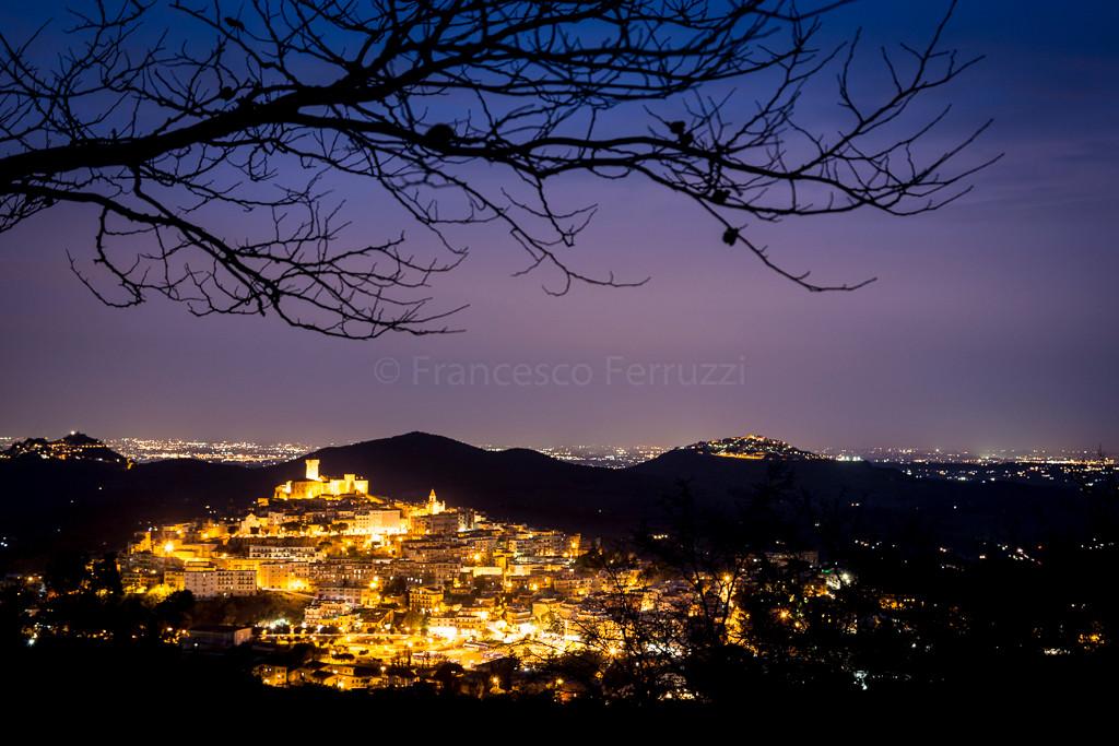 paesaggio notturno di Palombara Sabina - Roma