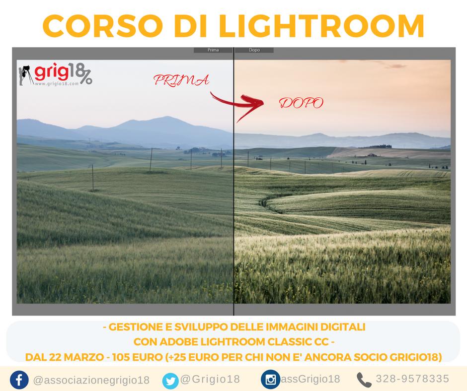 Corso di Adobe Lightroom Classic CC a Roma