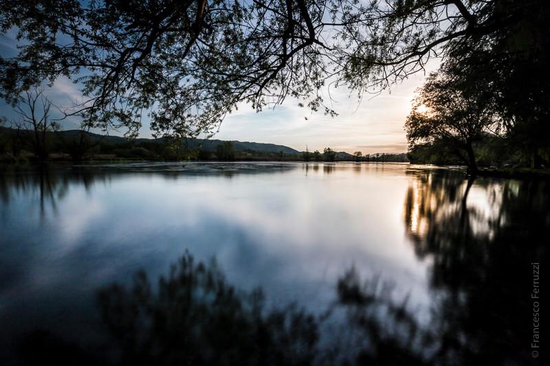 Tramonto sul lago di Posta Fibreno
