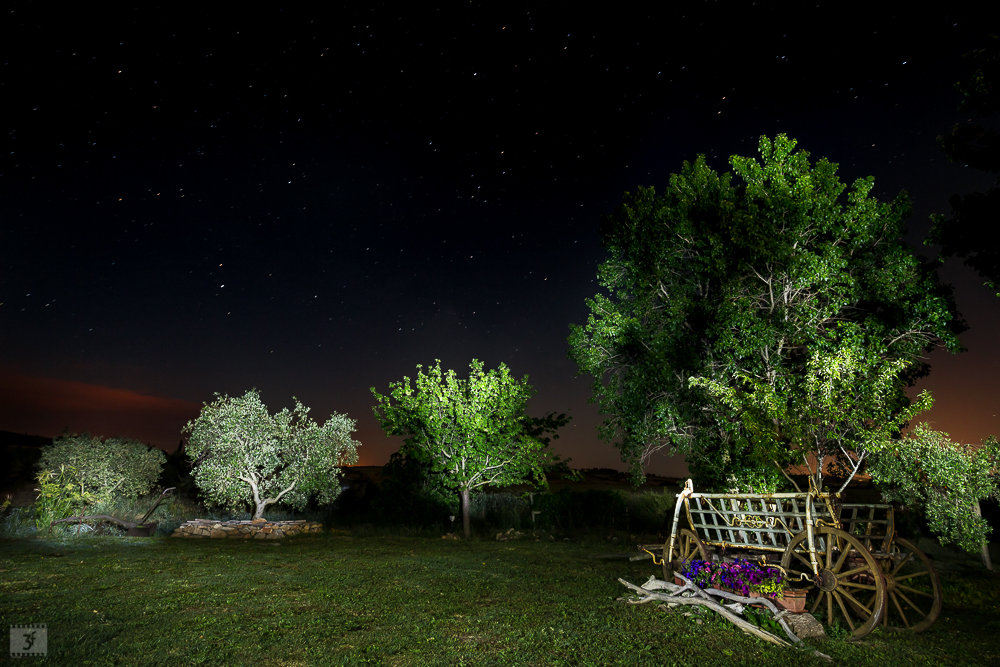 Lightpainting durante il workshop in Toscana