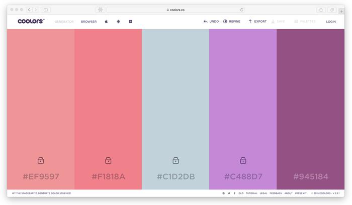 Códigos de la gama de colores Pantone.