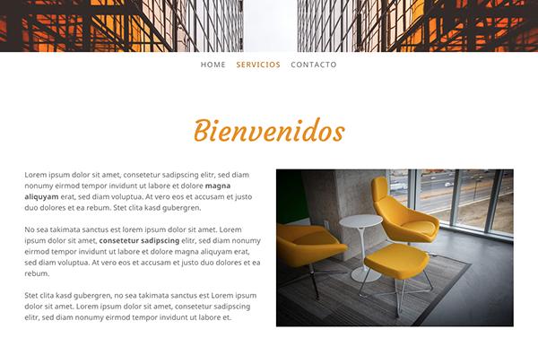 Página web con dos columnas y 67 caracteres por línea