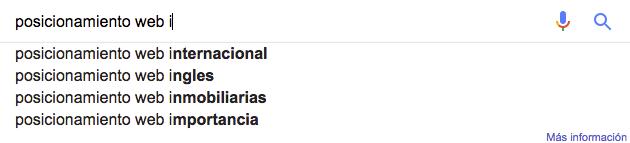 El autocompletador de Google, muy útil para descubrir qué buscan los internautas.