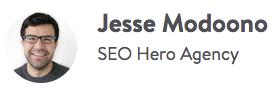 Jesse Modoono es experto en SEO.