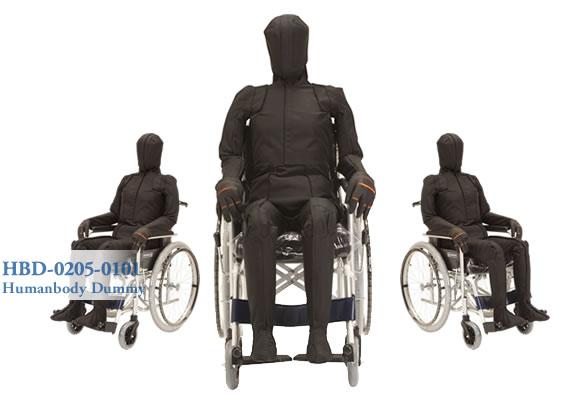 ポジショニングダミーは人が長時間座ることを想定した車いすや自動車のシートなどの開発や耐久実験を行うことができます。