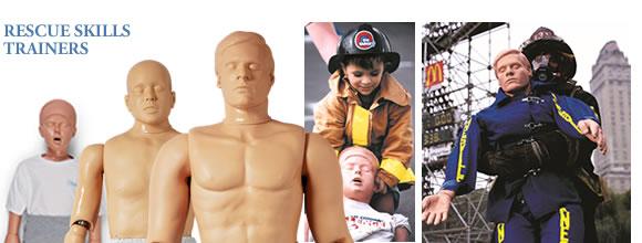 消防、警察など人命救助の訓練に使用される救助訓練用レスキューマネキン
