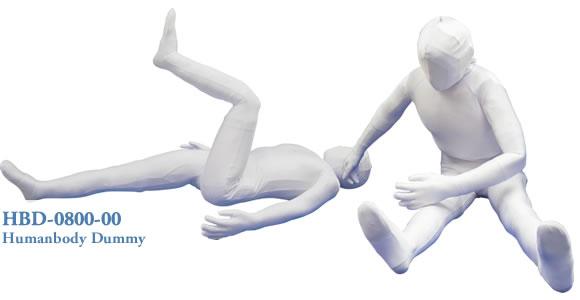 ヒューマノイドダミーβフルスケルトンは人間のような柔軟性と人体に近似した可動域を持ち合わせたダミー人形です。
