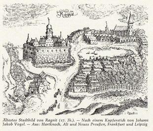 Kupferstich Ragnit - 17. Jahrhundert