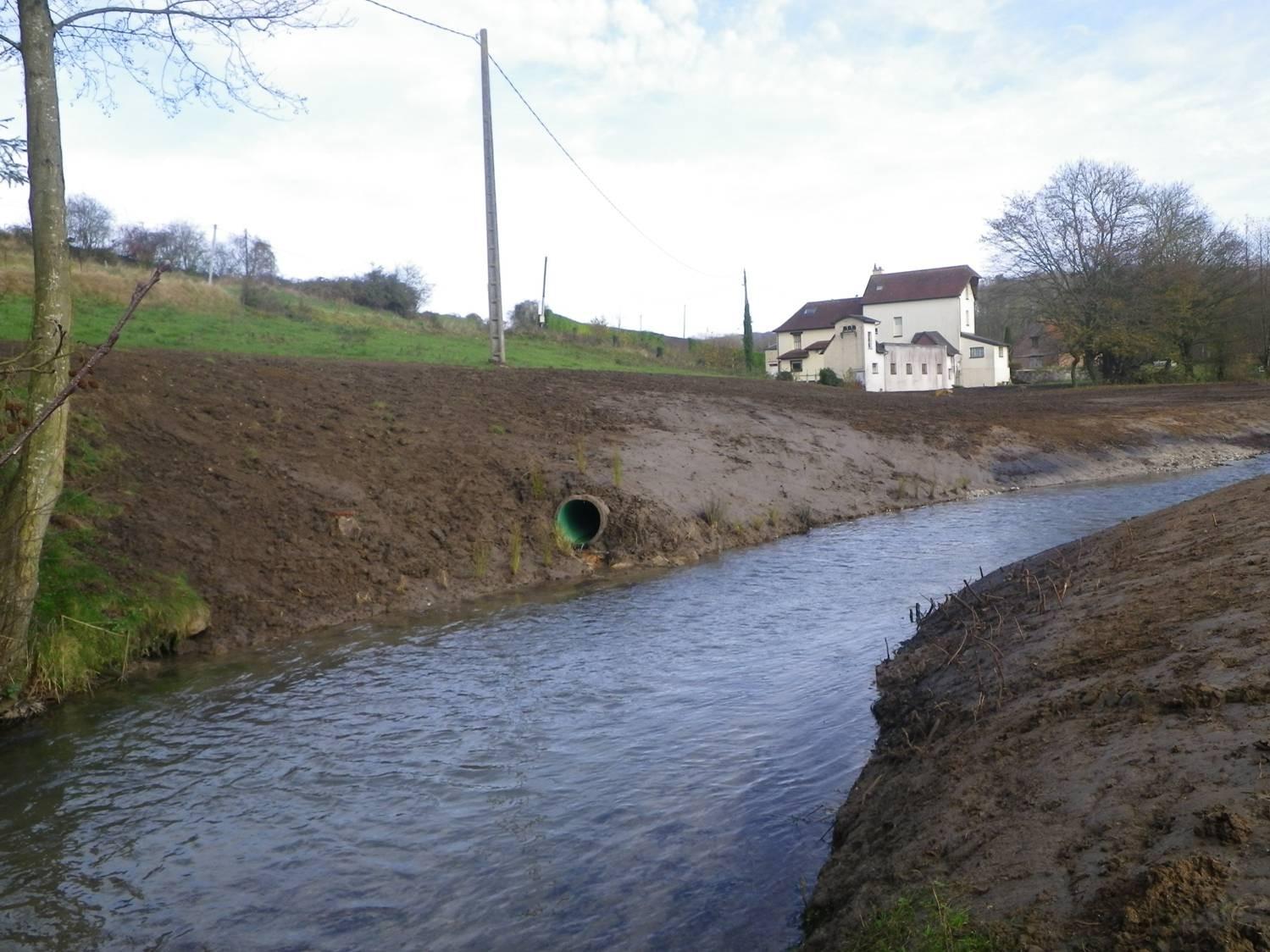 Gestion des eaux pluviales du moulin et de la route départementale