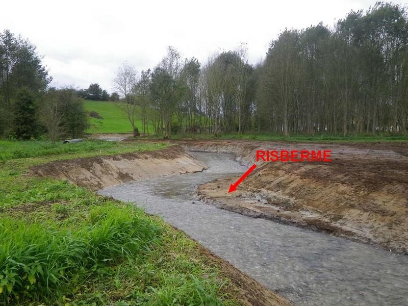 Création de risberme en rive