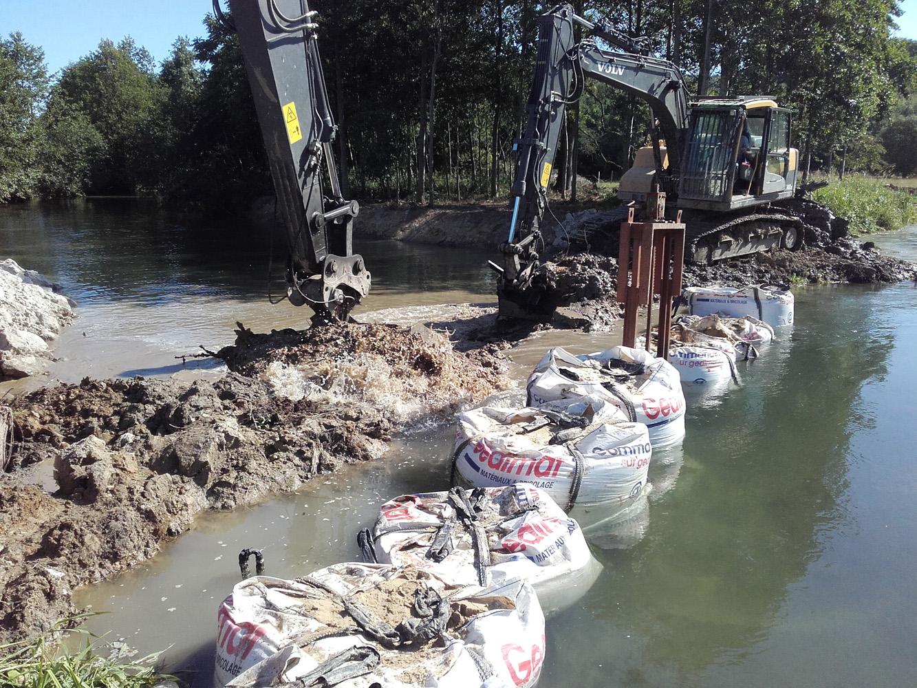 Suppression du batardeau pour remise en eau du répartiteur