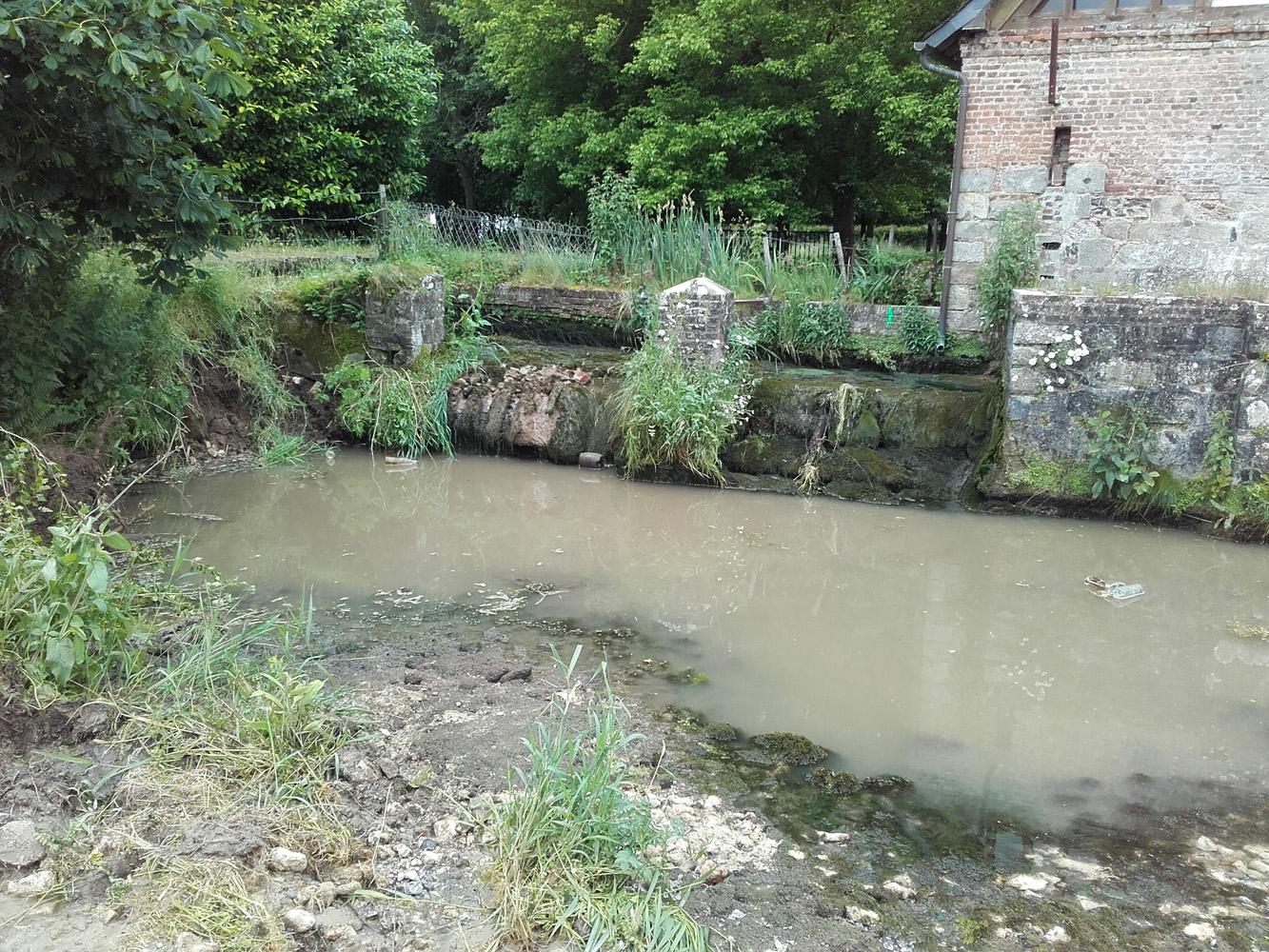 Moulin aprés dérivation des eaux