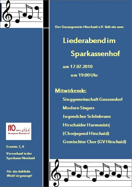 Liederabend im Sparkassenhof 2010